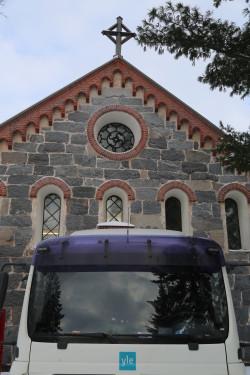 Jumalanpalvelus Kokemäen kirkossa